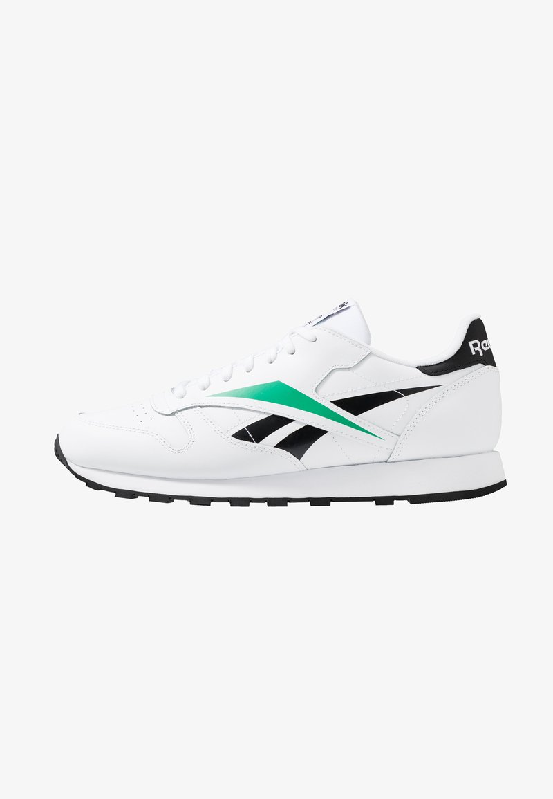 Reebok Classic - CLASSIC LEATHER VECTOR RUNNER SHOES - Sneaker low - white/black/emerald