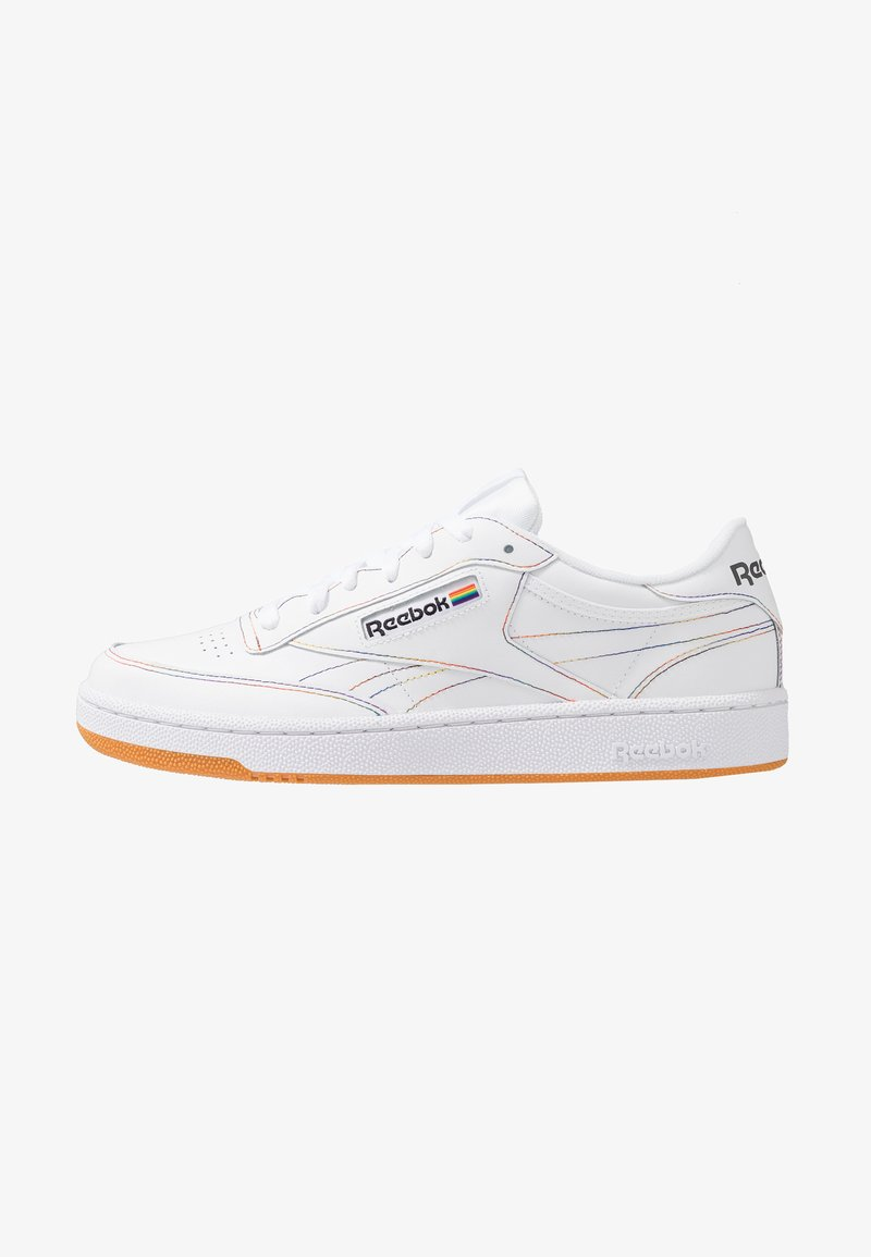 Reebok Classic - CLUB C 85 LEATHER UPPER SHOES - Trainers - white/emerald/cobalt