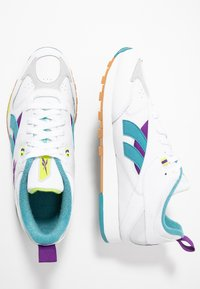 Reebok Classic - CLASSIC LEATHER RC 1.0 LIGHTWEIGHT SHOES - Zapatillas - white/regal purple/skull grey - 1
