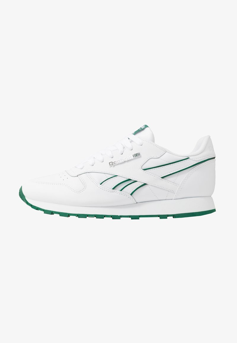 Reebok Classic - CLASSIC LEATHER LOW-CUT DESIGN SHOES - Zapatillas - white/clover green