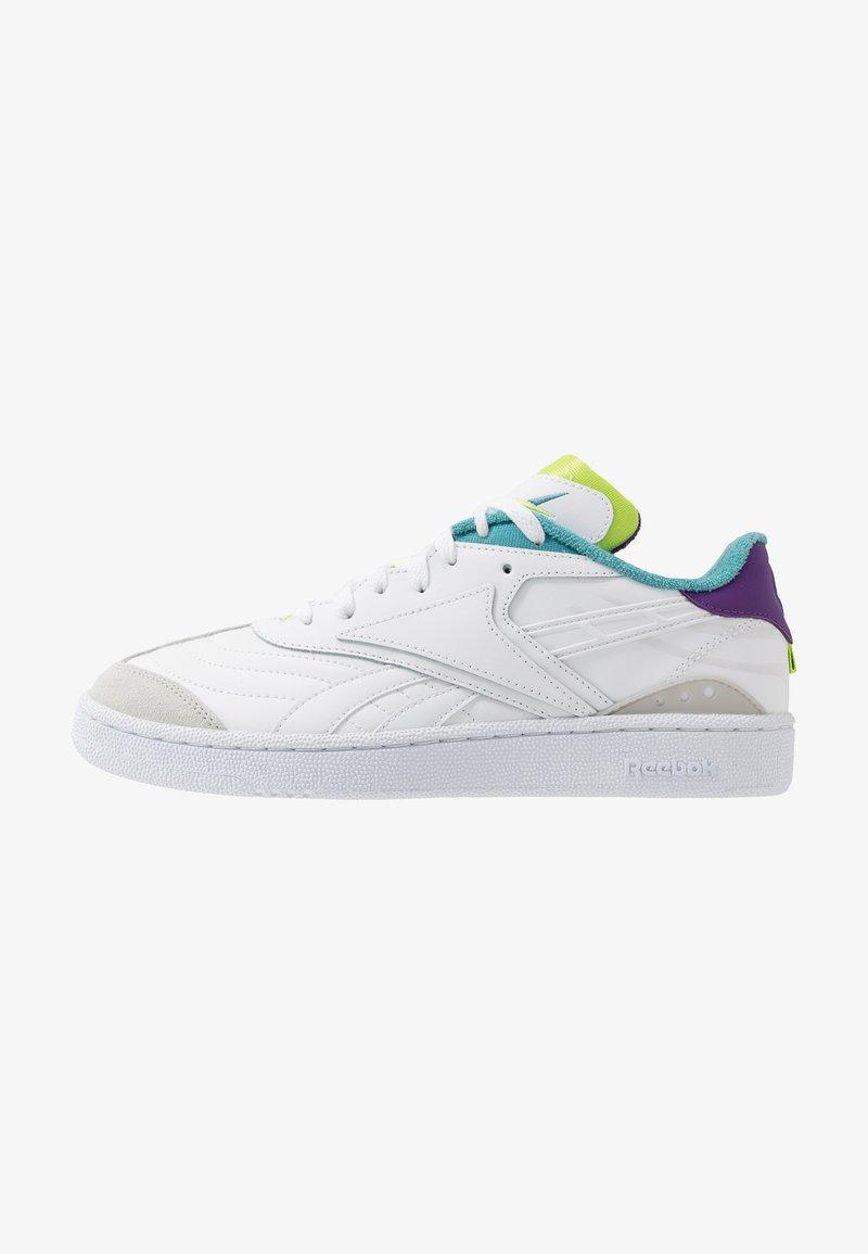 Reebok Classic - CLUB C RC 1.0 LIGHT TENNIS STYLE SHOES - Sneaker low - white/regal purple/skull grey