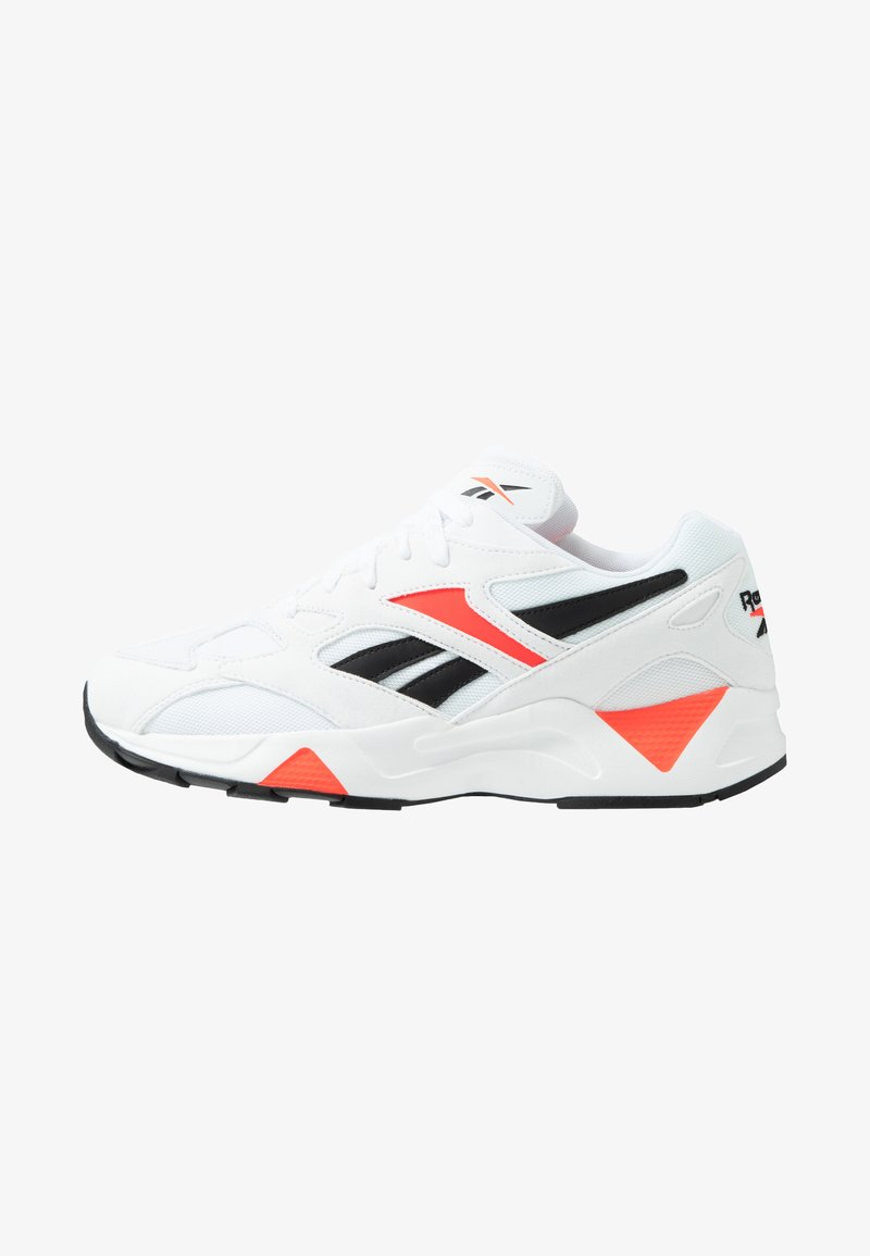 Reebok Classic - AZTREK 96 SUEDE AND TEXTILE UPPER SHOES - Trainers - white/porcelain/neon red