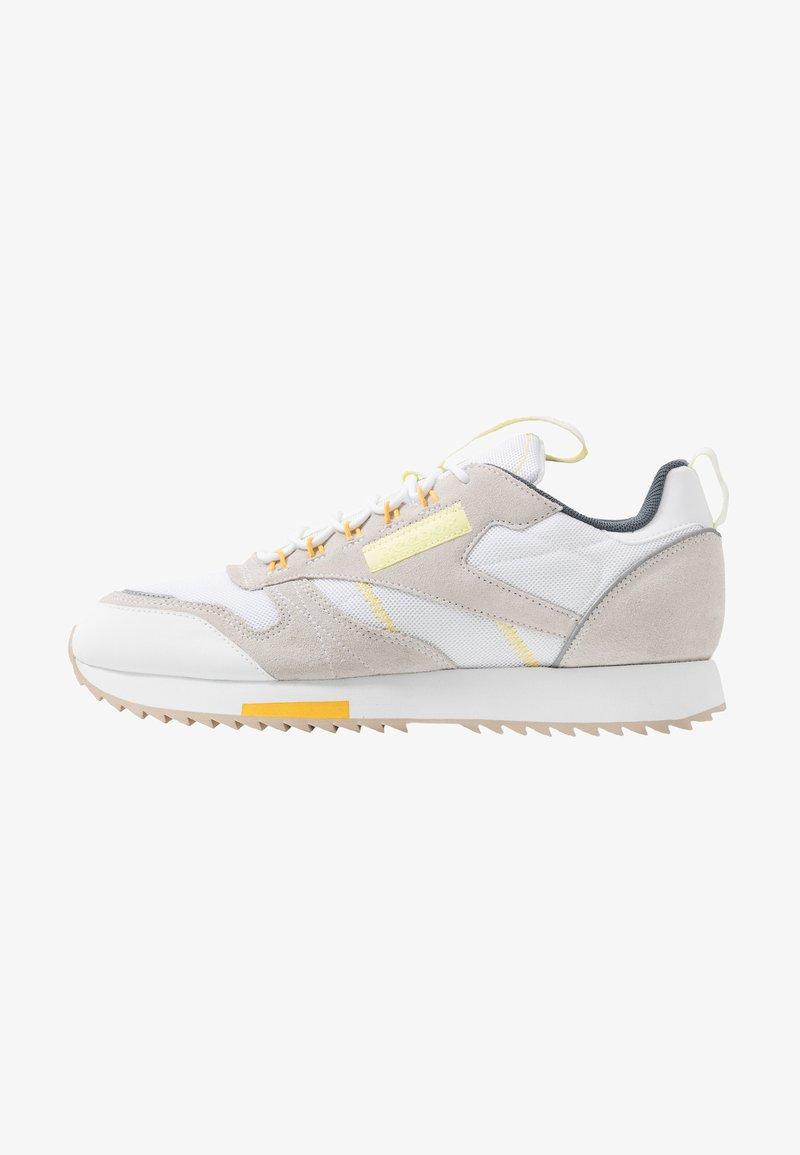 Reebok Classic - RIPPLE TRAIL - Sneakersy niskie - white/lemon glow/toxic yellow