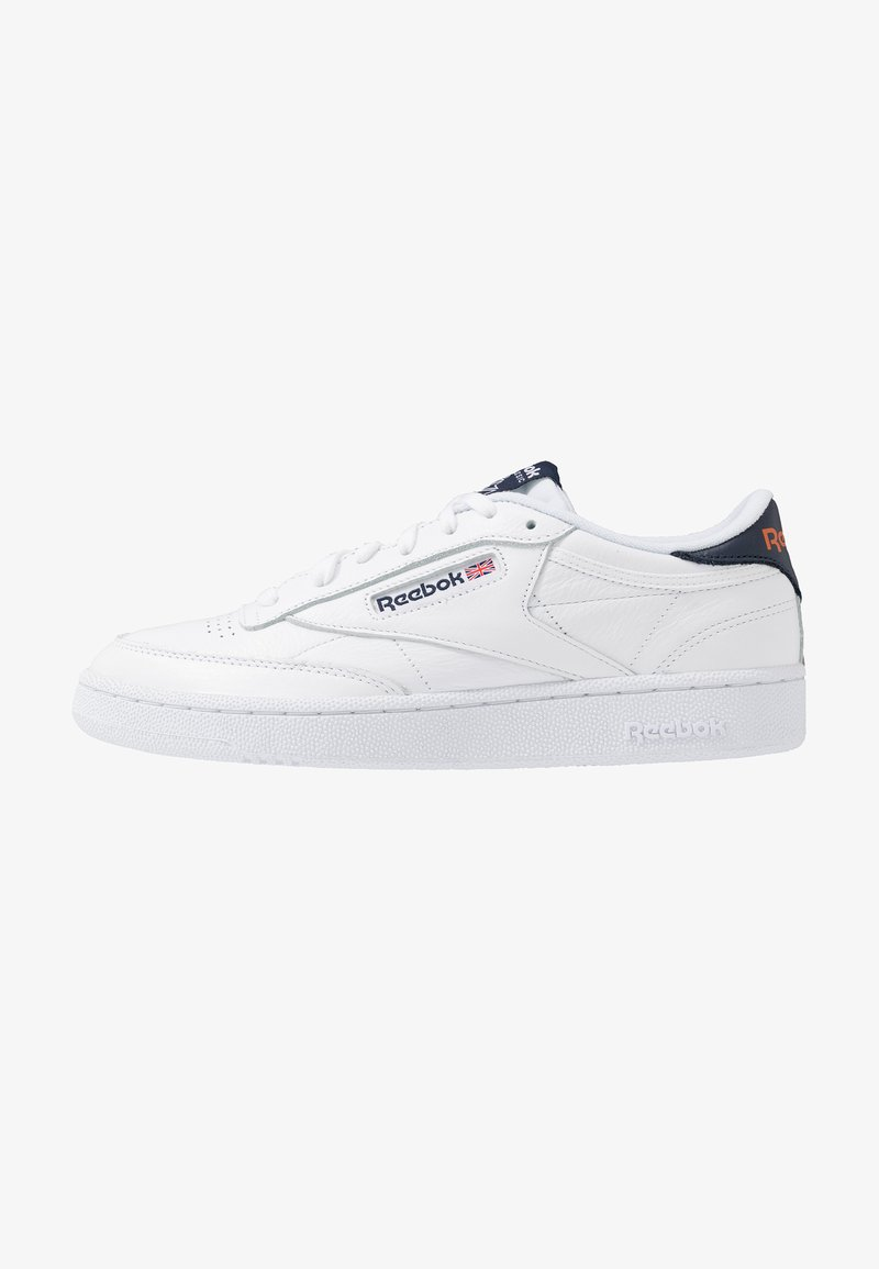 Reebok Classic - CLUB C 85 - Sneaker low - white/conavy/fire orange
