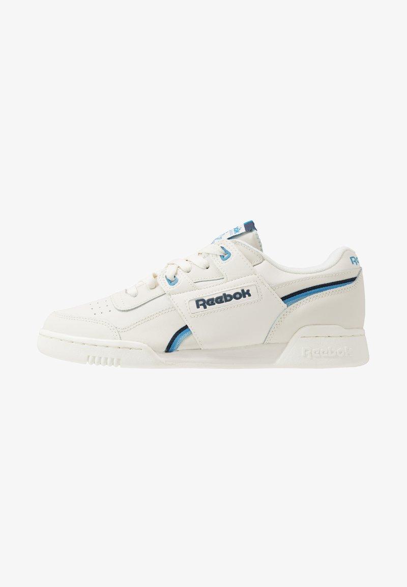 Reebok Classic - WORKOUT PLUS  - Sneakers - chalk/collegiate navy/cyan