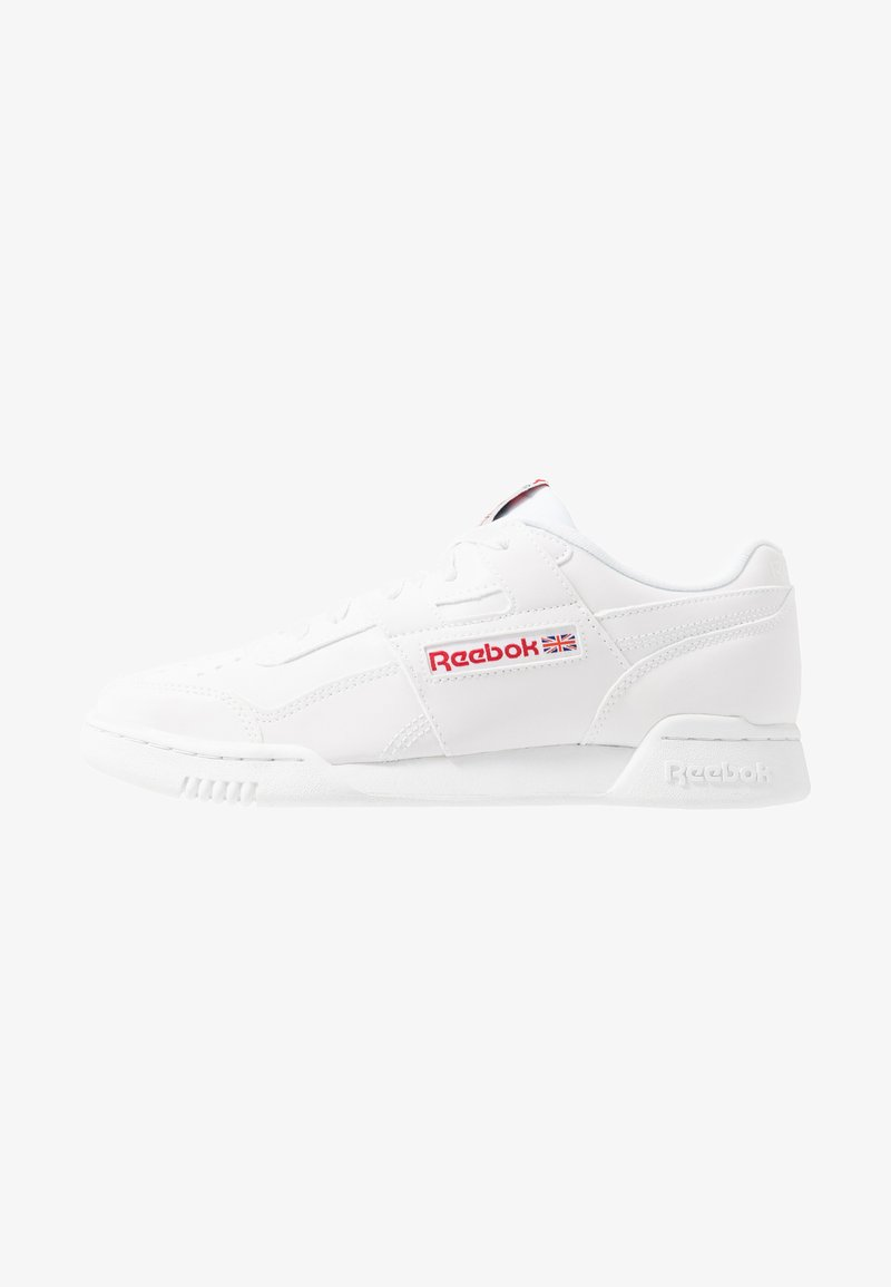 Reebok Classic - WORKOUT PLUS - Zapatillas - white/skull grey/red/black