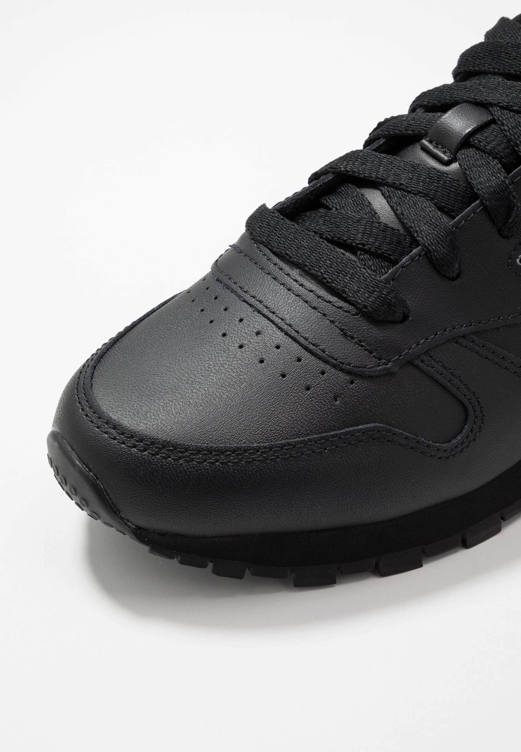 Reebok Classic CL - Sneakersy niskie - black/white/silver metallic