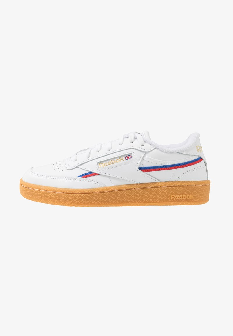Reebok Classic - CLUB - Sneakers laag - white/radiant red/blast blue