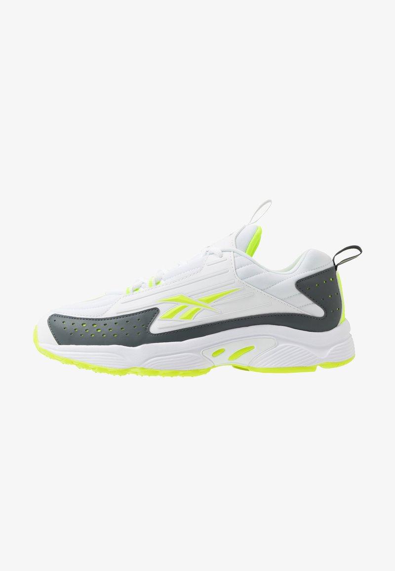 Reebok Classic - DMX SERIES 2200 - Sneakersy niskie - white/true grey/solar yellow