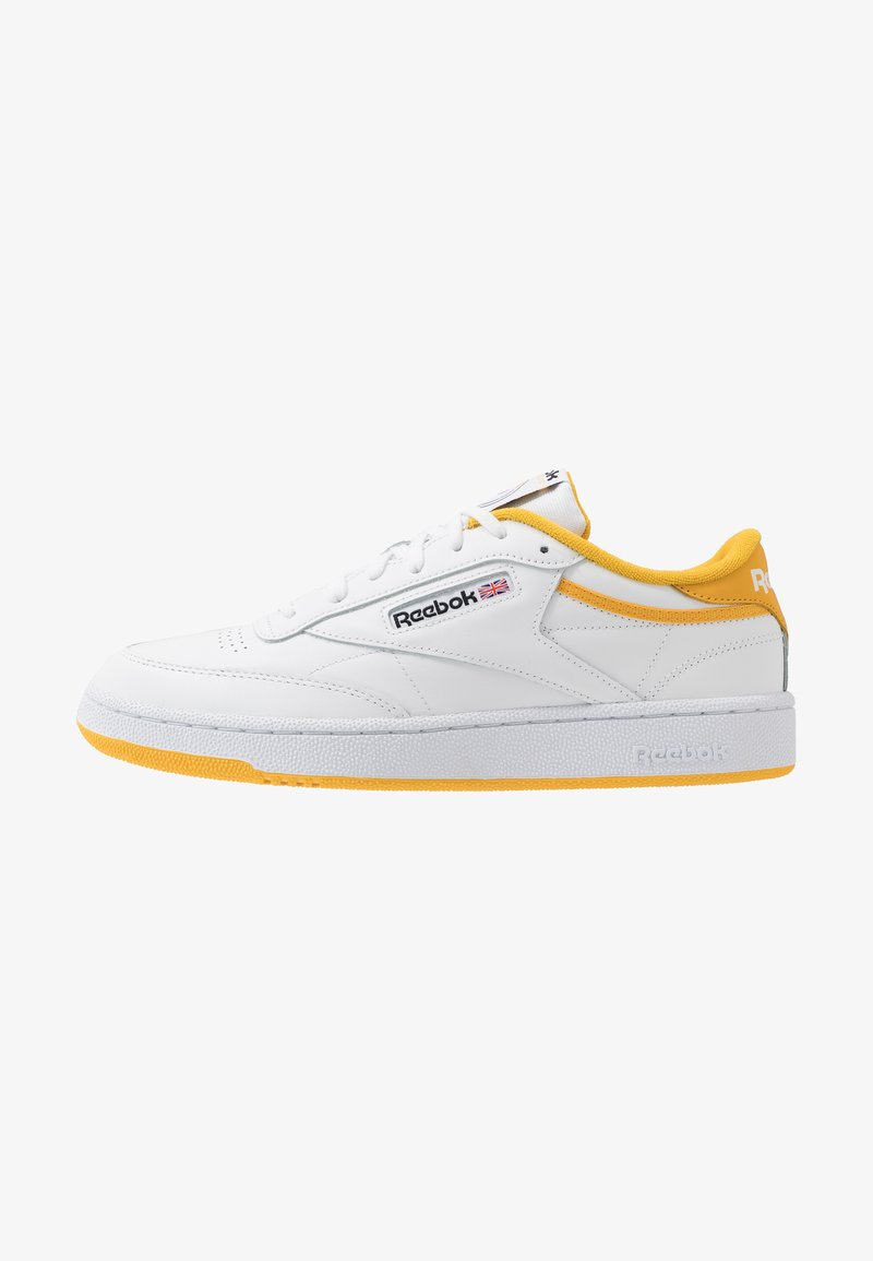 Reebok Classic - CLUB C 85 - Trainers - white/fierce gold/black
