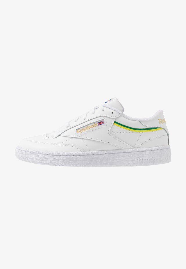 CLUB C 85 - Trainers - white/baseball green/hero yellow
