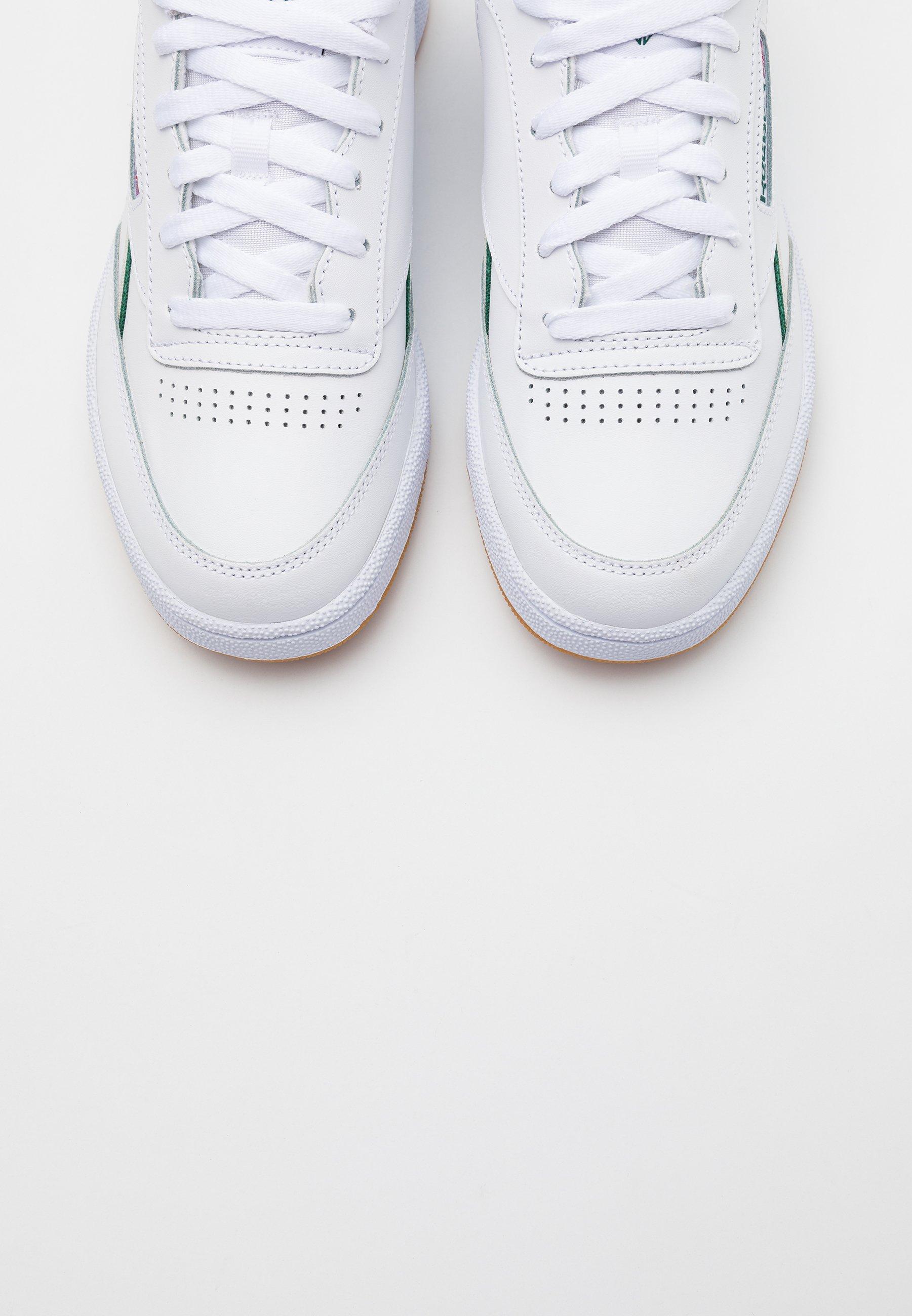 Reebok Classic Club C 85 - Sneakers Laag White/dark Green/chalk White Goedkope Schoenen