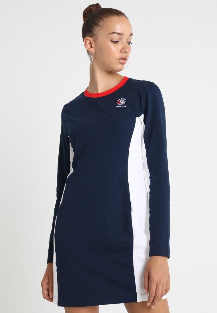Reebok Classic - DRESS - Vestito di maglina - collegiate navy/white