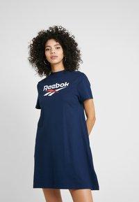 Reebok Classic - LOGO DRESS - Jersey dress - collegiate navy - 0