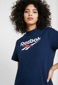 Reebok Classic - LOGO DRESS - Jersey dress - collegiate navy - 4