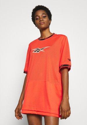 DRESS - Day dress - vivid orange