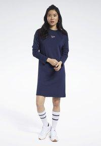 Reebok Classic - CLASSICS SMALL LOGO DRESS - Day dress - blue - 1