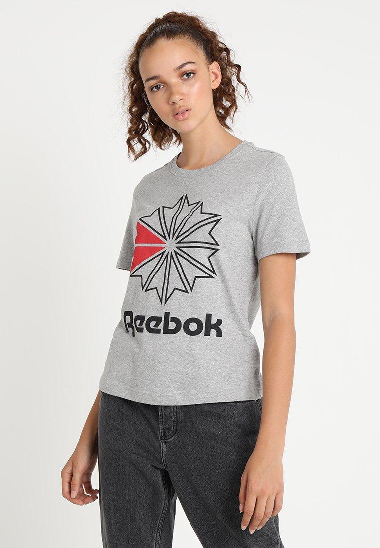 Reebok Classic - TEE - T-Shirt print - medium grey heather
