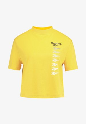 CROPEED TEE - T-shirts med print - toxic yellow