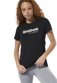 Reebok Classic - CLASSICS REEBOK TEE - T-shirt con stampa - black - 0