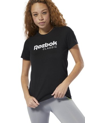 CLASSICS REEBOK TEE - T-shirt med print - black