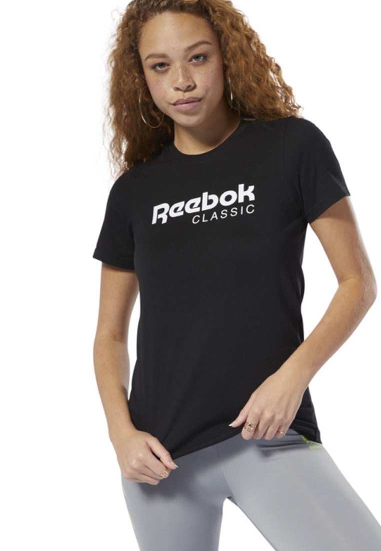 Reebok Classic - CLASSICS REEBOK TEE - T-shirt con stampa - black