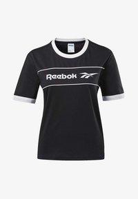 Reebok Classic - CLASSICS LINEAR TEE - T-shirts med print - black - 5