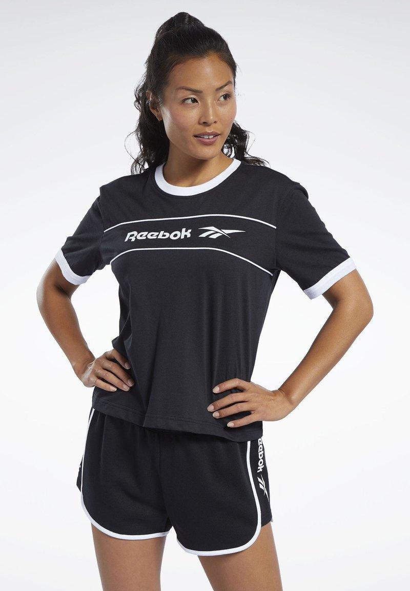 Reebok Classic - CLASSICS LINEAR TEE - T-shirts med print - black