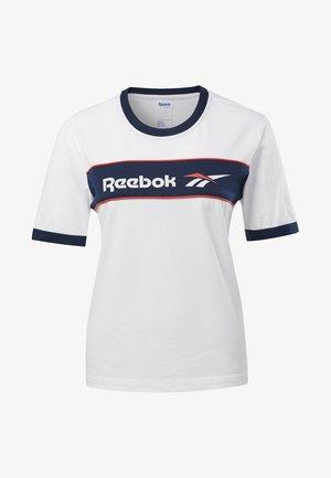 CLASSICS LINEAR TEE - T-shirt imprimé - white