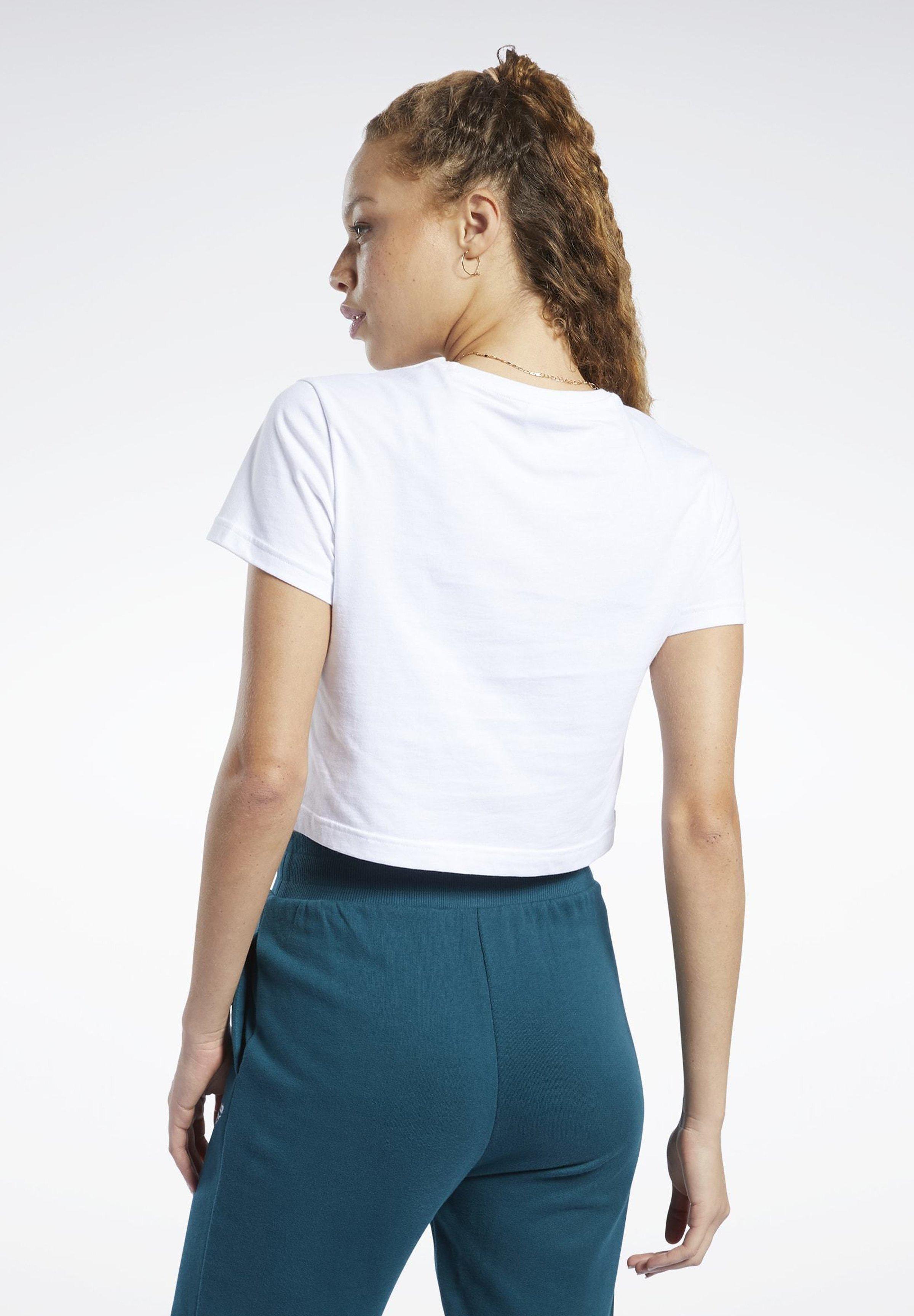 Reebok Classic CLASSICS VECTOR CROP TOP - T-shirts med print - white