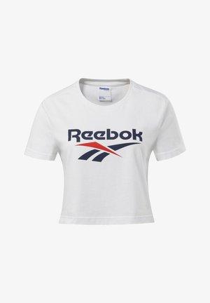 CLASSICS VECTOR CROP TOP - T-shirt med print - white
