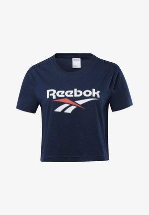 CLASSICS VECTOR CROP TOP - T-shirt imprimé - blue