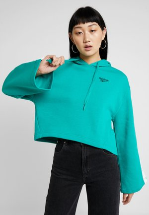 VECTOR GRAPHIC PULLOVER - Hoodie - emerald