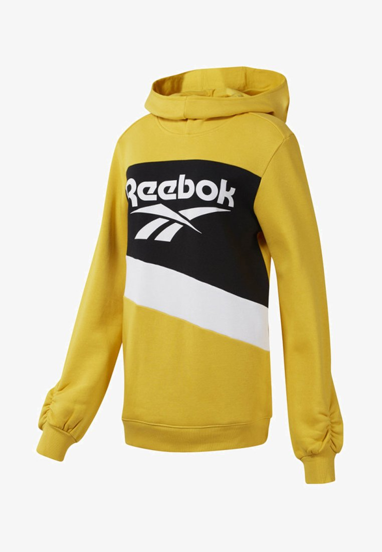 Reebok Classic - CLASSICS VECTOR HOODED DRESS - Kapuzenpullover - toxic yellow