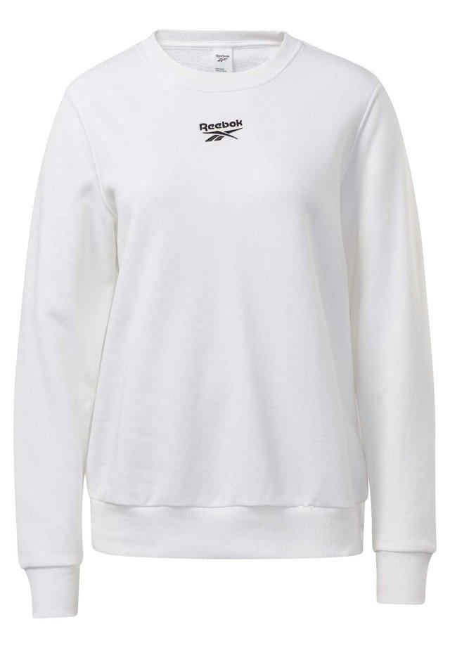 CLASSICS LOGO CREW SWEATSHIRT - Sweatshirt - white