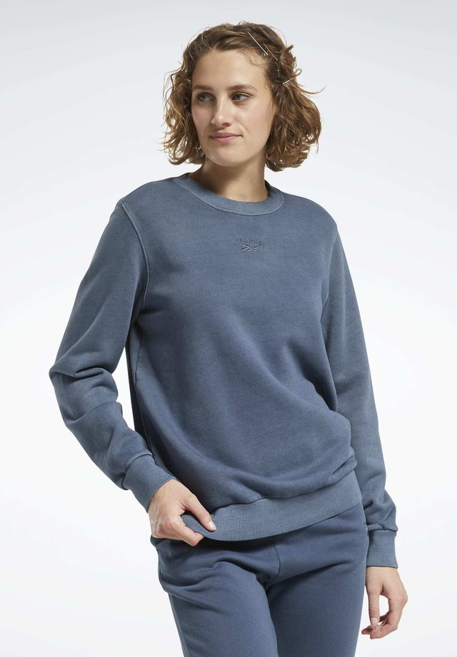 CLASSICS WASHED CREW SWEATSHIRT - Sweatshirt - blue