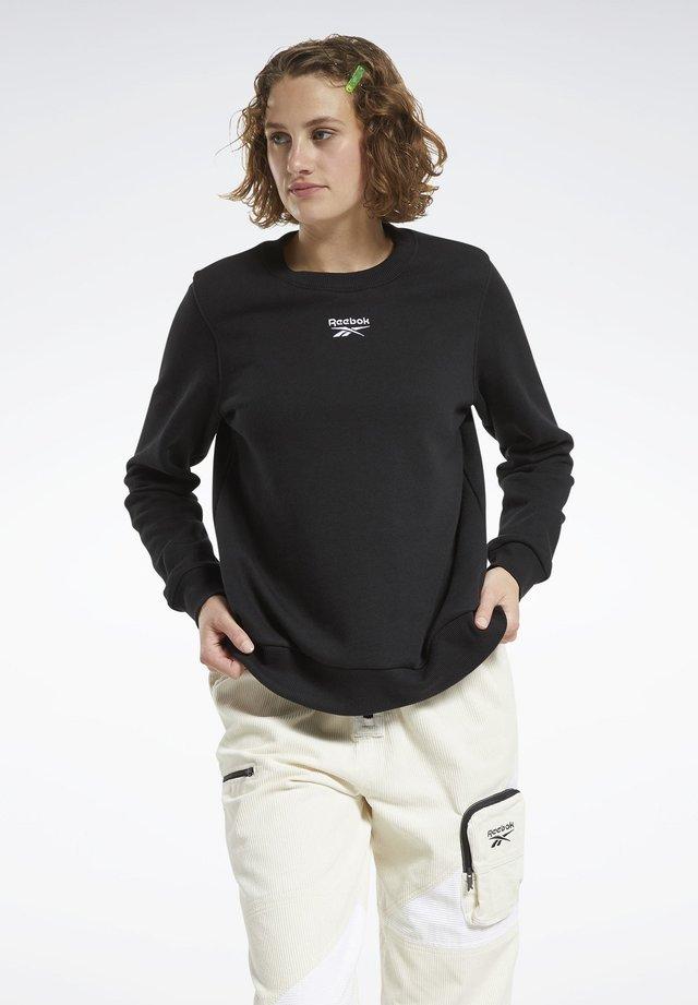 CLASSICS LOGO CREW SWEATSHIRT - Sweatshirt - black