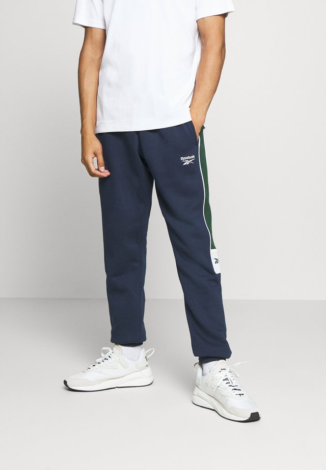 LINEAR PANT - Tracksuit bottoms - vector navy