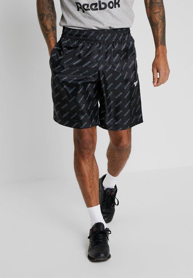 CLASSIC PRINT SHORTS - Sports shorts - black