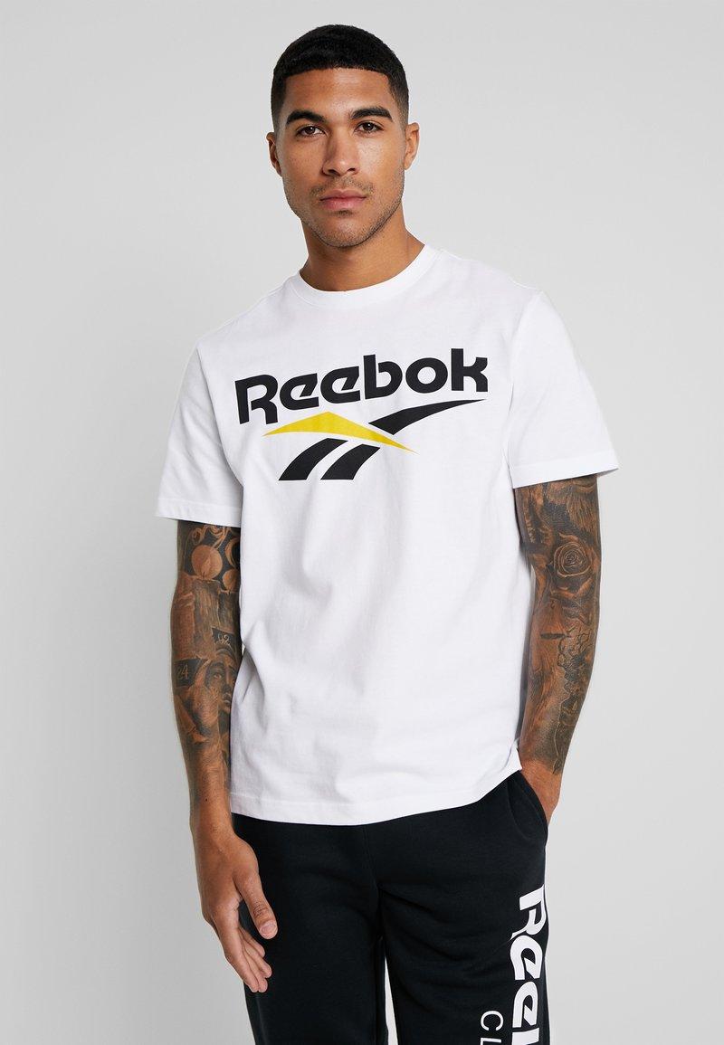 Reebok Classic - VECTOR TEE PRINT - T-Shirt print - white/black