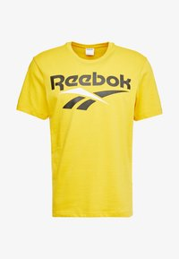 Reebok Classic - VECTOR TEE PRINT - Print T-shirt - toxic yellow - 3
