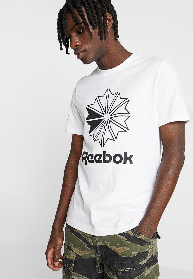 Reebok Classic - BIG LOGO TEE - Print T-shirt - white