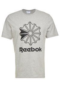 Reebok Classic - BIG LOGO TEE - Print T-shirt - medium grey heather - 0