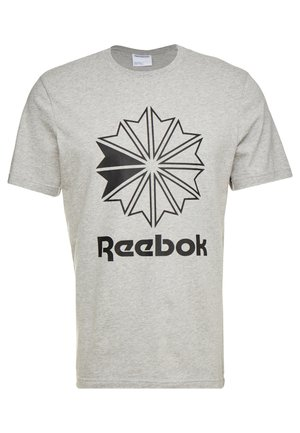 BIG LOGO TEE - Print T-shirt - medium grey heather