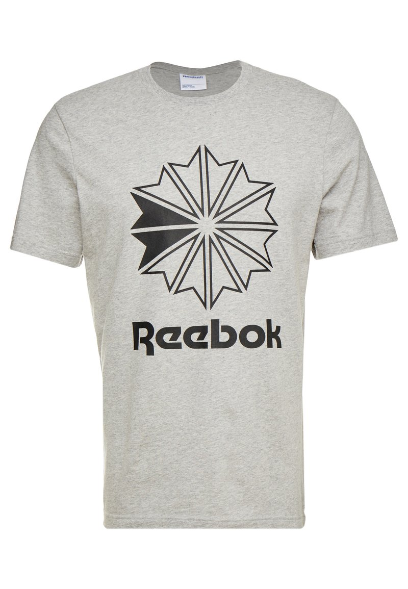 Reebok Classic - BIG LOGO TEE - Print T-shirt - medium grey heather