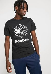 Reebok Classic - BIG LOGO TEE - T-Shirt print - black - 0