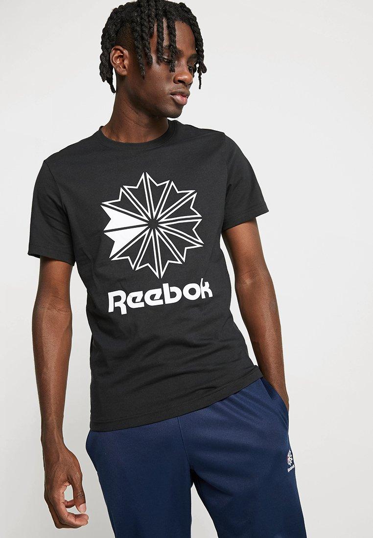 Reebok Classic - BIG LOGO TEE - T-Shirt print - black