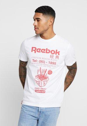 NOODLES TEE - Camiseta estampada - white