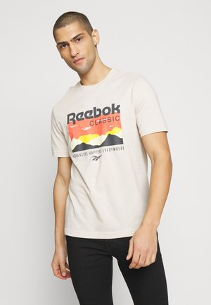 CASUAL SHORT SLEEVE GRAPHIC TEE - T-shirt z nadrukiem - stucco