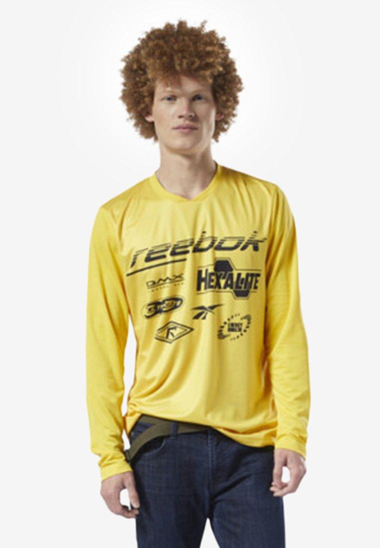 Reebok Classic - CLASSICS ADVANCE TEE - Langarmshirt - toxic yellow